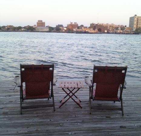 Relax with a Boston Harbor view from Green Turtle
